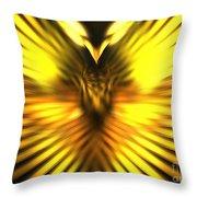 Golden Phoenix Throw Pillow
