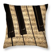 Golden Pianoforte Classic Throw Pillow