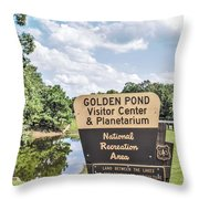Golden Pond Visitor Center And Planetarium Throw Pillow