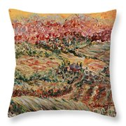 Golden Provence Throw Pillow by Nadine Rippelmeyer