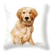 Golden Pup Throw Pillow
