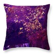 Golden Purples Throw Pillow