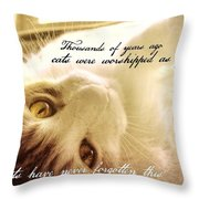 Golden Quote Throw Pillow