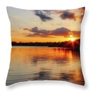 Golden Rays Throw Pillow