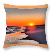 Golden Red Sunset Throw Pillow