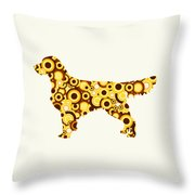 Golden Retriever - Animal Art Throw Pillow