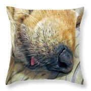 Golden Retriever Dog Little Tongue Throw Pillow