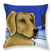 Golden Retriever Throw Pillow by Leanne Wilkes