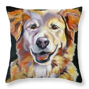 Golden Retriever Most Huggable Throw Pillow