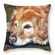 Golden Retriever Senior Throw Pillow by Lee Ann Shepard