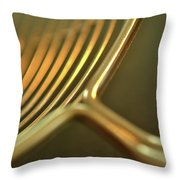 Golden Rings Throw Pillow
