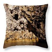 Golden Rocks Throw Pillow