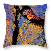 Golden Rocks Throw Pillow