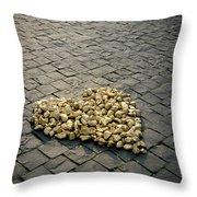 Golden Rocky Love Throw Pillow