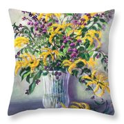 Violet And Gold Throw Pillow