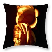 Golden Roses 4 Throw Pillow