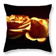 Golden Roses 5 Throw Pillow