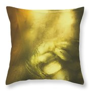 Golden Saloon Afternoon Throw Pillow