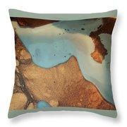 Golden Sandy Shores Throw Pillow
