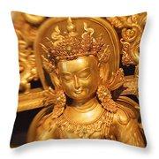 Golden Sculpture Throw Pillow
