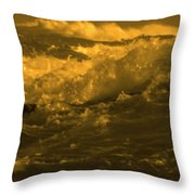 Golden Sea Waves Graphic Digital Poster Art By Navinjoshi At Fineartamerica.com Ideal For Wall Decor Throw Pillow