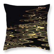 Golden Shimmers On A Dark Sea Throw Pillow