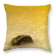 Golden Silence Throw Pillow