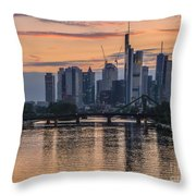 Golden Skyscraper Refelctions Throw Pillow
