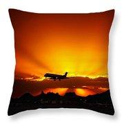 Golden Skyway Throw Pillow