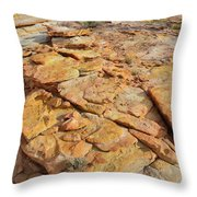 Golden Slopes Of Valley Of Fire State Park Throw Pillow