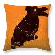Golden Snare Throw Pillow