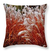 Golden Snow Throw Pillow