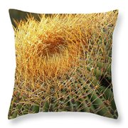 Golden Spines Throw Pillow
