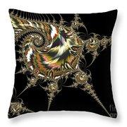 Golden Spirals And Spikes Throw Pillow