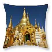 Golden Spires Throw Pillow