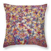 Golden Splendor Throw Pillow