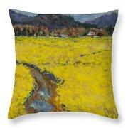 Golden Spring Throw Pillow