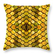 Golden Stained Glass Throw Pillow