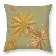 Golden Stars Throw Pillow
