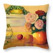 Golden Still Life Throw Pillow