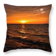 Golden Sundown Throw Pillow