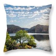 Golden Sunrise - Canyon Lake Throw Pillow
