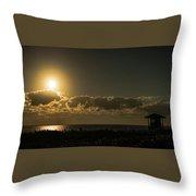Golden Sunrise Glow Delray Beach Florida Throw Pillow
