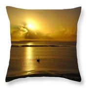 Golden Sunrise Throw Pillow by Jeremy Hayden