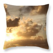 Golden Sunrise On Kauai Throw Pillow