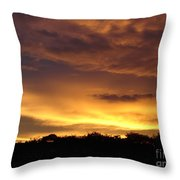 Golden Sunset 1 Throw Pillow
