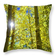 Golden Sunshine Throw Pillow