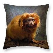 Golden Tamarin Throw Pillow