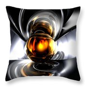 Golden Tears Abstract Throw Pillow