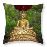 Golden Thai Buddha Throw Pillow